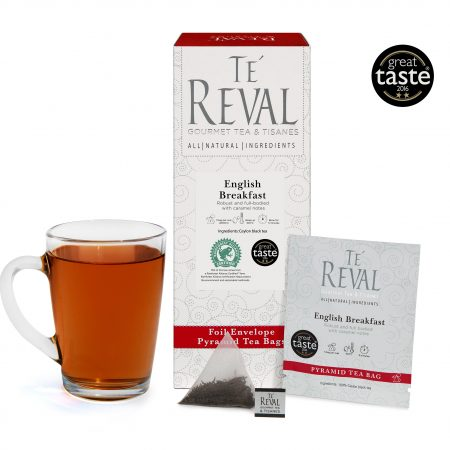 Te' Reval award winning English Breakfast pyramid tea bags