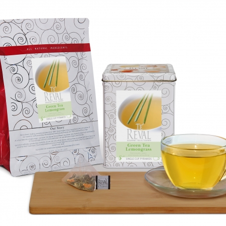 Te' Reval Green Tea Lemongrass-set