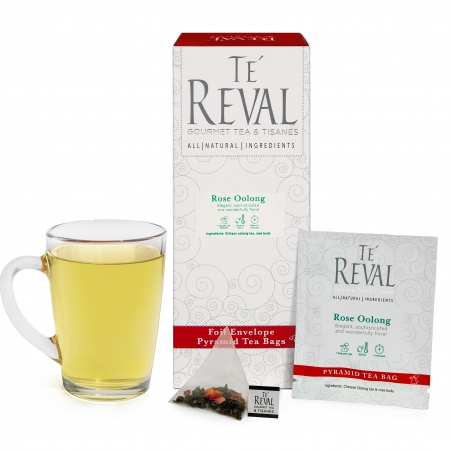 Te' Reval Rose Oolong pyramid bags